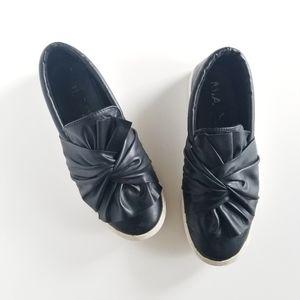 MIA Black Twist Sneaker Sporty Loafer Shoes 8.5